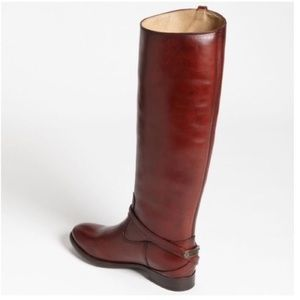 Frye Lindsay Plate Boots Burnt Red Brand New Sz 9
